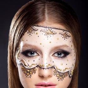 makijaż koronkowy
