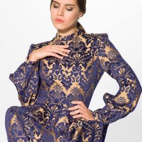 sukienak żakardowa